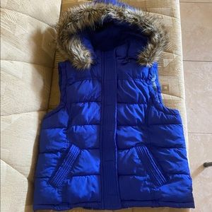 Aeropostale Puffer Vest with Furry Hoodie